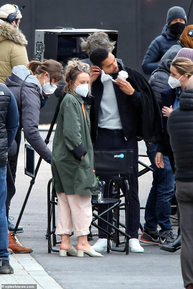 He was accompanied on the shoot in Docklands, East London, by his real-life duchess, Emily Brown, 30, with whom he shares an £800,000 flat in the capital