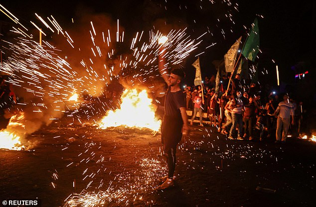 Violence spilled over to Gaza overnight between Friday and Saturday, when Palestinian militants fired 36 rockets at Israel soon after Gaza's Islamist rulers Hamas and other armed groups issued a joint call for Palestinian resistance in Jerusalem