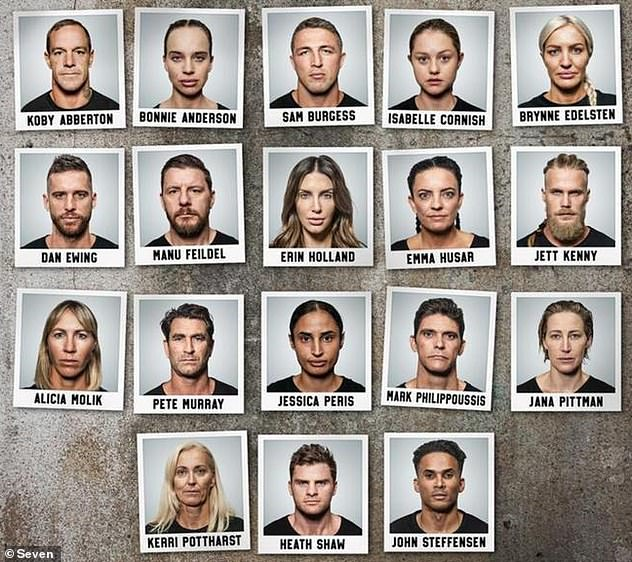New cast:The network released the full line-up for the military-style competition on Monday, and it features a mixture of famous and controversial participants
