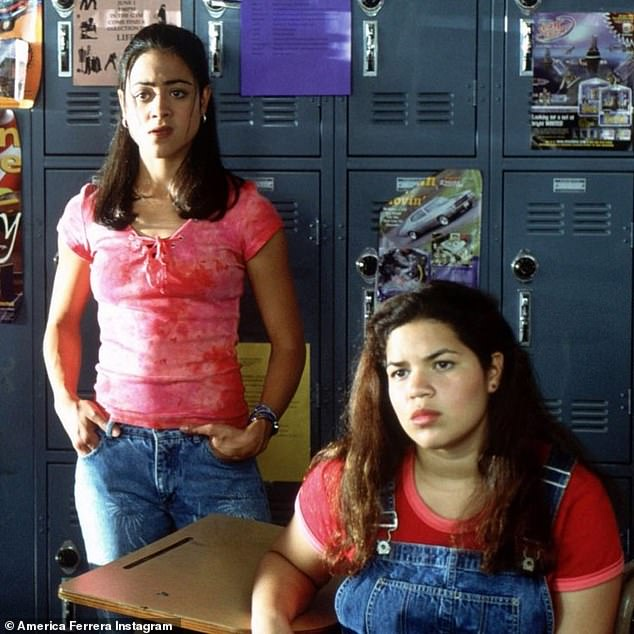 Teenage star: Ferrera began shooting the Disney Channel original movie in April 2001, when she was just 17-years-old