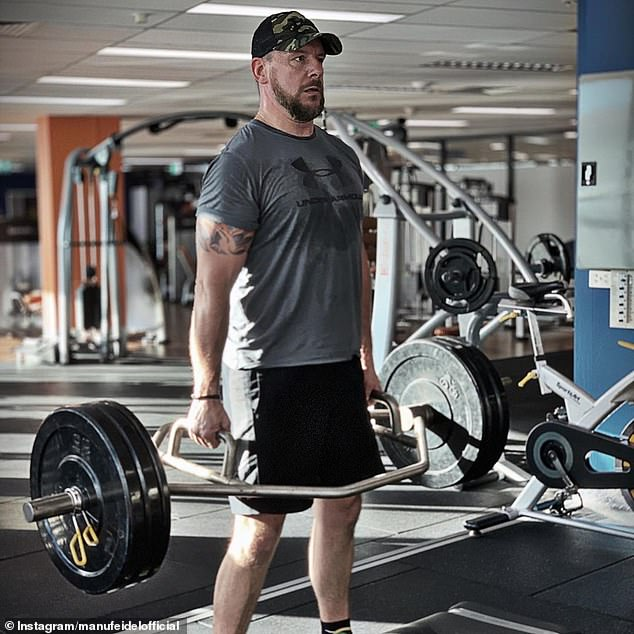 Hard work: Manu is currently putting his fitness levels to the test as he films the upcoming second season of SAS Australia