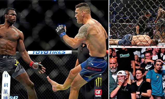 The MMA community's reaction to Chris Weidman's break in the fight