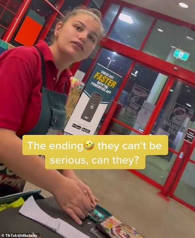 The first Bunnings' staff member pauses in thought before she sends him to the tool shop section