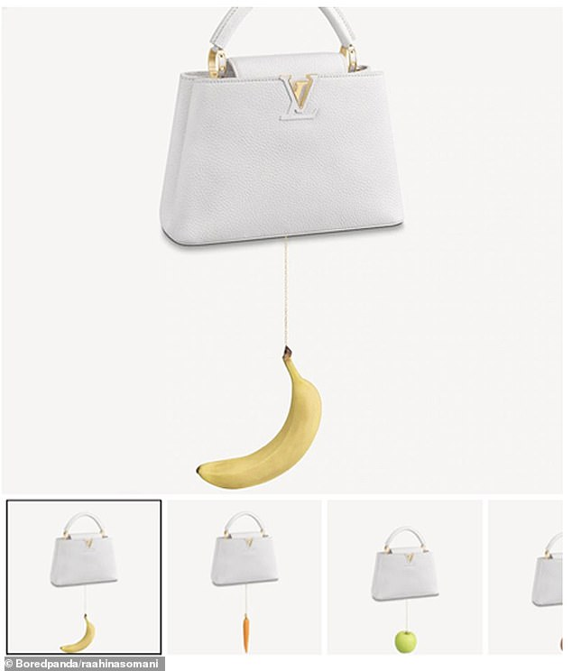 One student at the University ofOttawa claimed a bag with different fruits hanging from the bottom of it, costing $11,400, was the 'most ridiculous item' she had ever seen