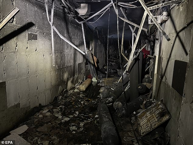 The fire started with an explosion caused by 'a fault in the storage of oxygen cylinders', medical sources said