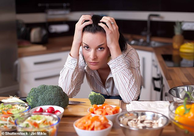 Nutritionists have revealed some of the feel-good foods that can help to reduce low mood and the symptoms of depression, as well as foods to steer clear of (stock image)