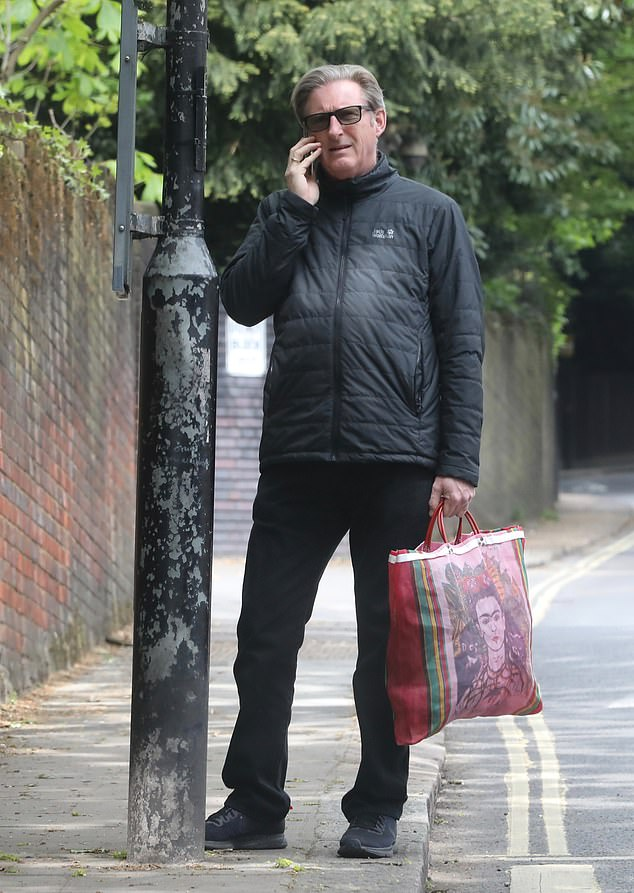 Chat: With a shopping bag in hand, the Northern Irish screen star, 61,was enjoying the more everyday elements of life as fans eagerly await the conclusion of Line Of Duty's sixth series