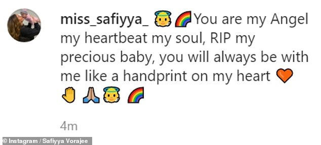 'You are my angel, my heartbeat, my soul': Azaylia mother Safiyya also shared two photos cuddling her beloved daughter
