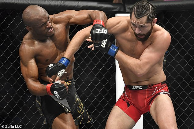 Supporters have taken to Twitter to mock Jorge Masvidal (right) for his knockout defeat
