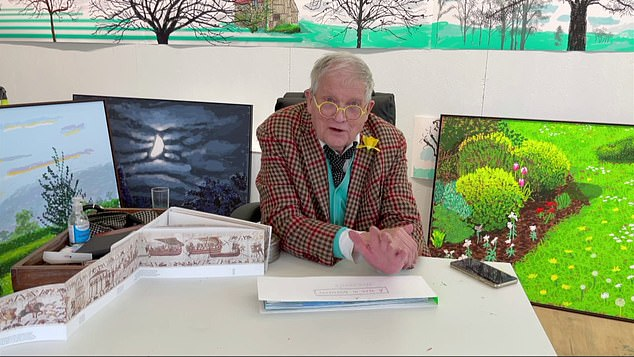 The 83-year-old Yorkshire born artist has been in Normandy, France, painting the arrival of spring