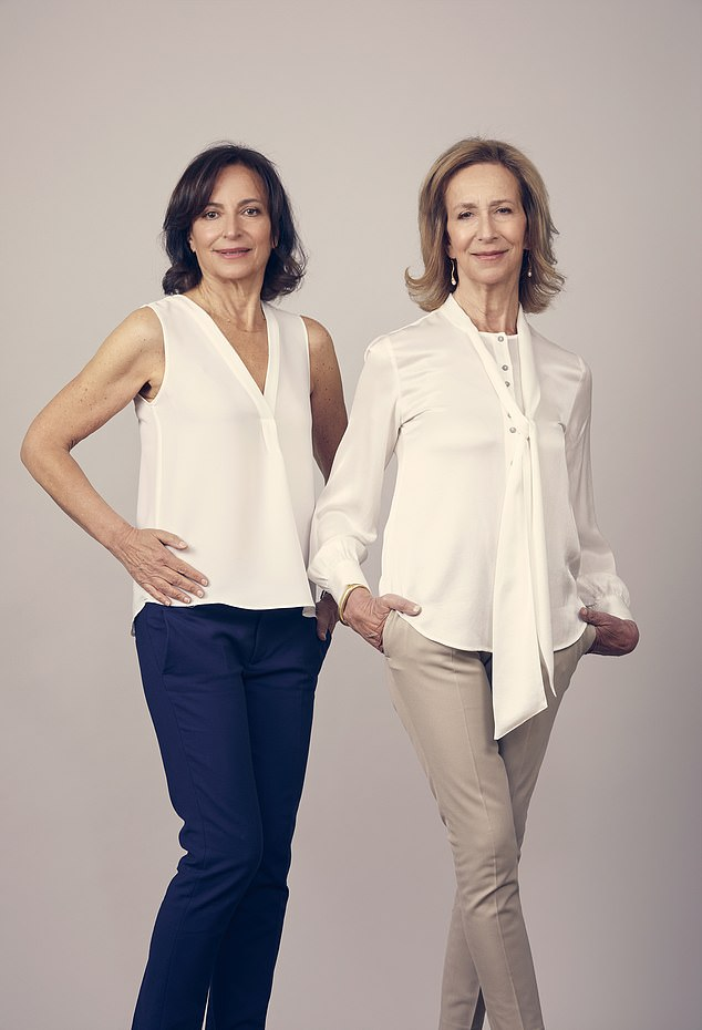 Linda (pictured left, with sister Susan, right) banned the adds for breast enhancement surgery in the classified ads at the back of the magazine when she was editor of Cosmopolitan magazine in the late 1980s