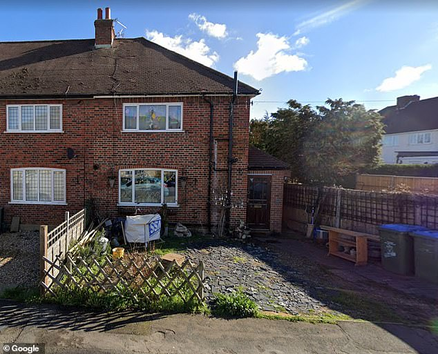 The family lived in a £450,000 semi detached home in a quiet street about half a mile from Walton-on-Thames town centre, and the scene of the attack, for 18 years