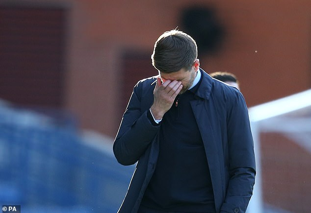 Rangers manager Steven Gerrard was left dejected as his side missed out on the double