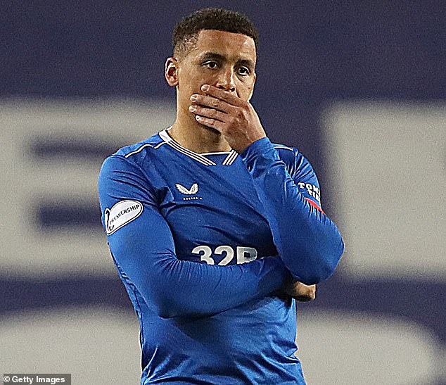 Rangers defender Tavernier shows his frustration after his side lost the final on penalties