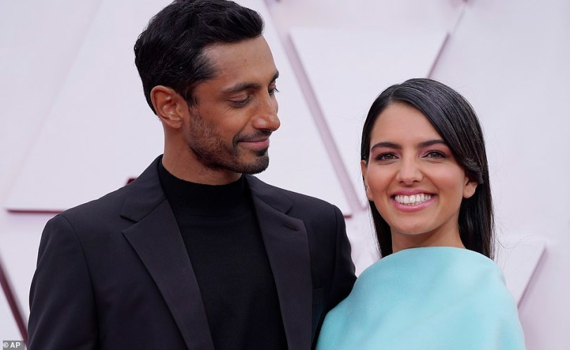 So cute: Riz and Fatima met at a New York cafe while he was prepping for his Sound of Metal role
