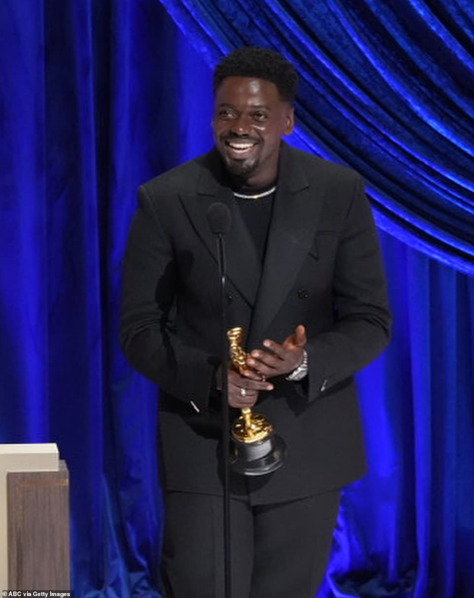'We're breathing, we're walking. It's incredible. Like, my mom, my dad, they had sex -it's amazing! I'm here. I'm so happy to be alive and I'm gonna celebrate that tonight.' Kaluuya said as he talked about celebrating after the ceremony