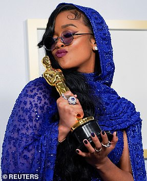 H.E.R. won Best Original Song forJudas and the Black Messiah's Fight for You