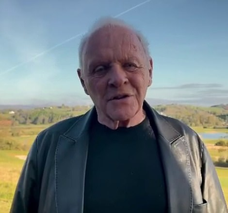 Shock: Speaking in a short clip surrounding by sprawling countryside, Anthony said: 'Good morning, here I am in my homeland of Wales and at 83-years-of-age I did not expect to get this award. I really didn't.'