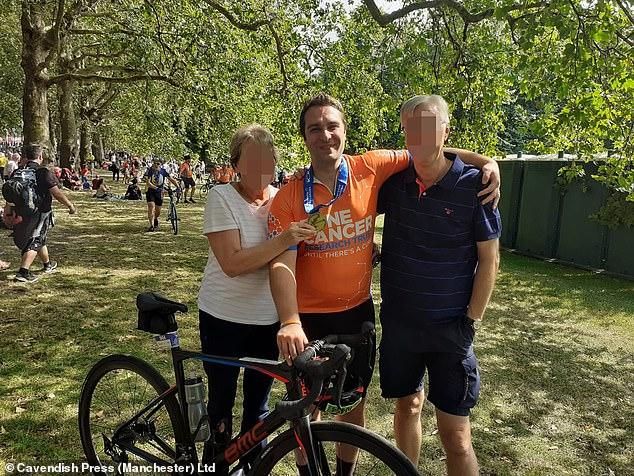 As the cyclist (pictured) lay on the ground in agony with a shoulder injury, married father-of-three Eckersley, a director of his family property letting firm, tried to pick him up saying: 'You're not f***ing hurt. You deserve this!'