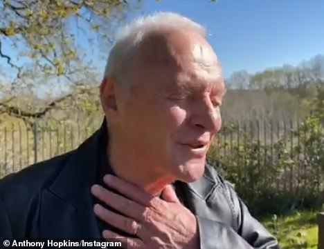 Emotional: The British actor chose to visit his father's grave in South Wales rather than fly to Hollywood where he was handed his second Oscar overnight - becoming the oldest Best Actor winner in history at 83