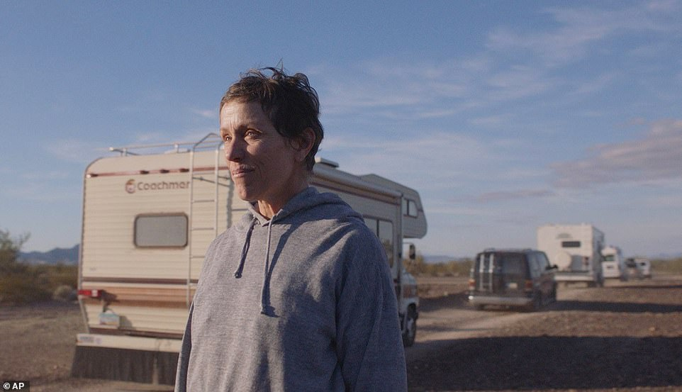 Nomadland, which follows protagonist Fern (played by Frances McDormand, pictured) travelling around in a van, triumphed at the Oscars this weekend, winning three awards - including Best Actress, Best Picture and Best Director for Chloé Zhao