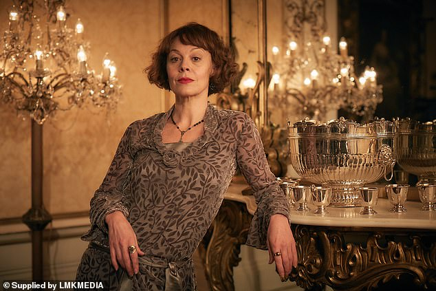 Tragic:The In Memoriam segment also paid tribute to Helen McCrory, who tragically passed away earlier this month aged 52 (pictured in Peaky Blinders still)