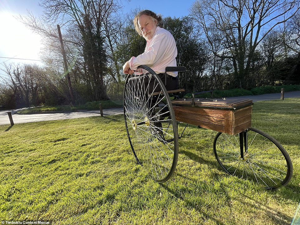 Test driving the world's first rechargeable electric car: Ray Massey, Daily Mail motoring editor, has taken to the controls of a replica of the original EV
