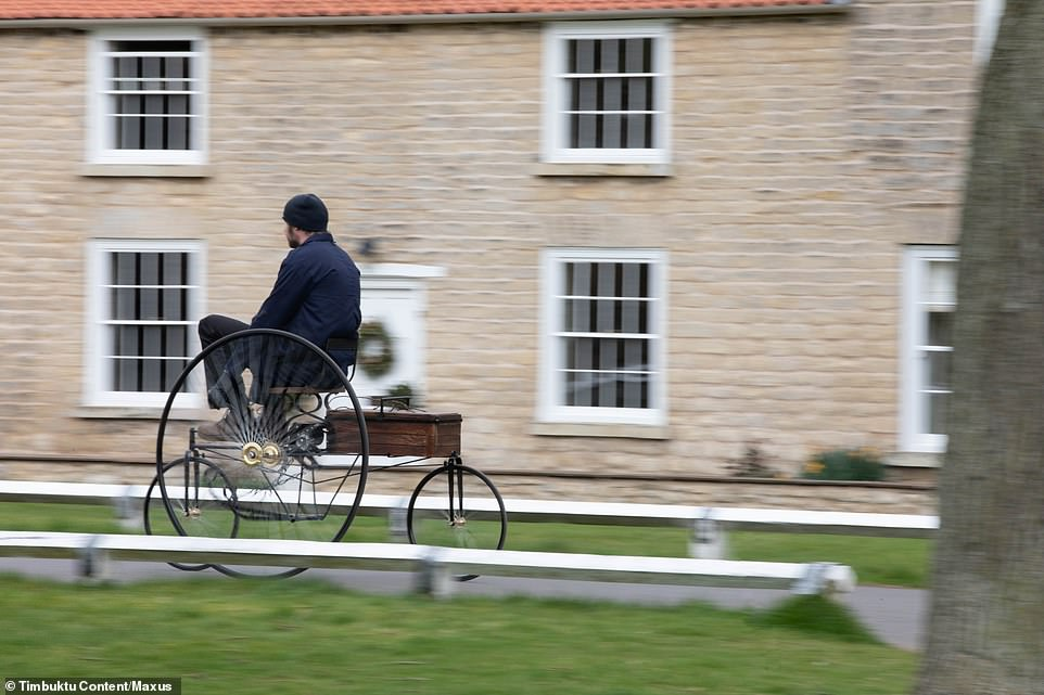 The replica is produces less than 1 horsepower and the top speed is a restricted - and fairly pedestrian - 10mph