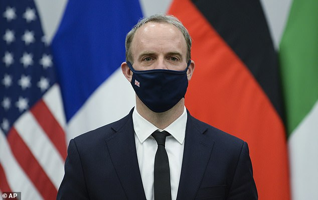 Dominic Raab said the sentence is 'totally inhumane and wholly unjustified' as he demanded Tehran release the British-Iranian mother of one 'immediately' so she can return to her family in the UK