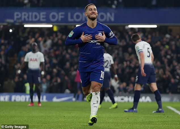 The Chelsea winger revealed he looked up to Hazard and admires what he achieved at the club