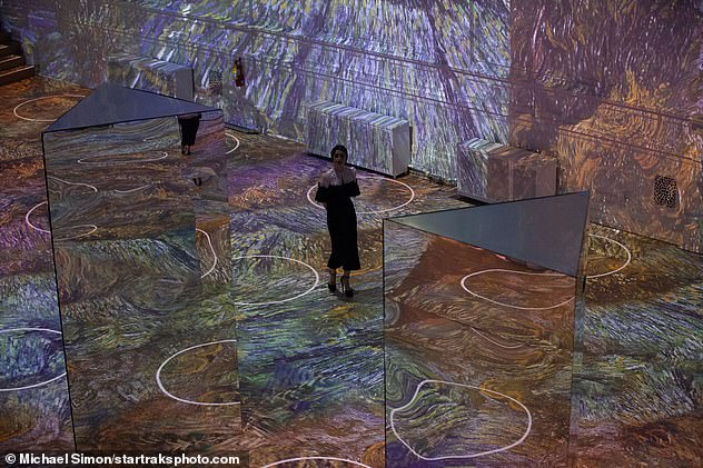 Wow: Lily took in the acclaimed Immersive Van Gogh Exhibit which is currently touring North America