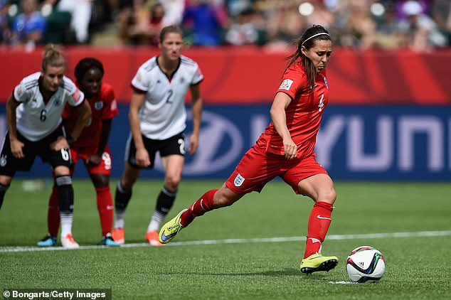 The midfielder is England's most capped player, male or female, with 172 appearances