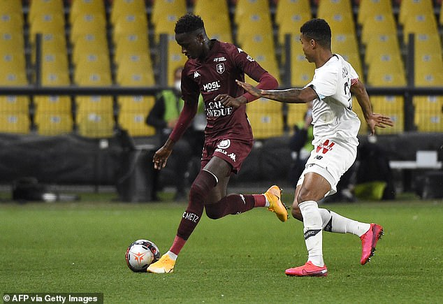 The 18-year-old signed a five-year deal with the French club last year and  is valued at £27m