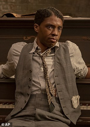 Boseman - who died of colon cancer aged just 43 last August - was widely tipped to win a posthumous award for his role in Ma Rainey's Black Bottom