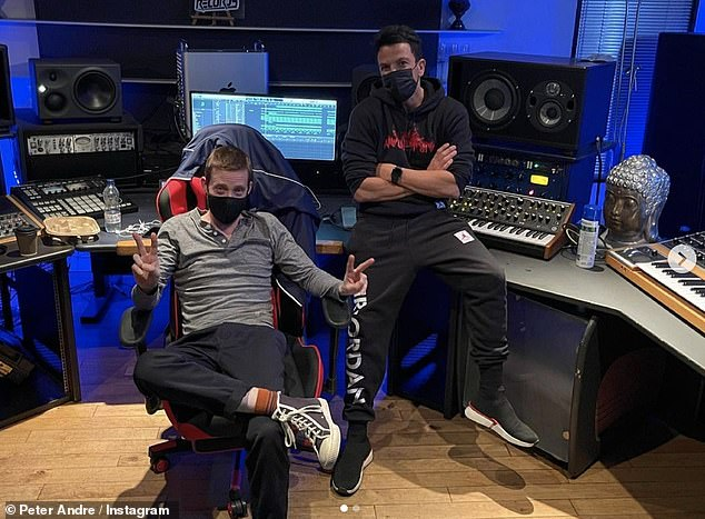 Collab:'I was predicting quiet but he predicts a riot........ Today I'm in the studio with none other than Ricky Wilson creating a beauty. This album is gonna be amazing'