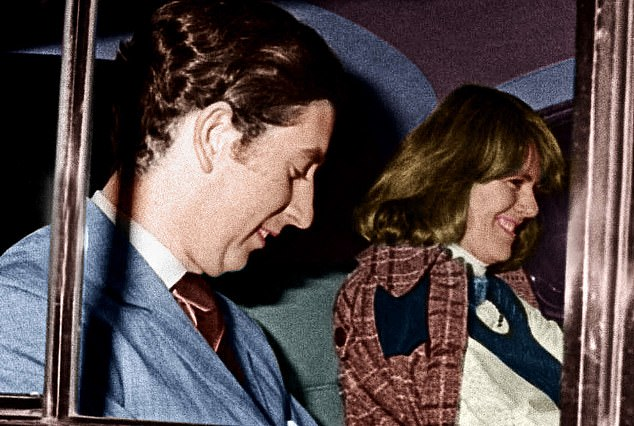 Prince Charles and Camilla Parker-Bowles leave the Royal Opera House in Covent Garden in 1975