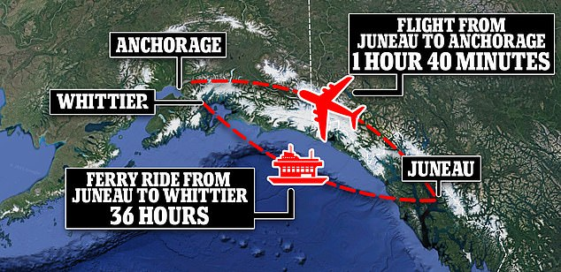The work-around was longer than a flight, and included crossing the Canadian border