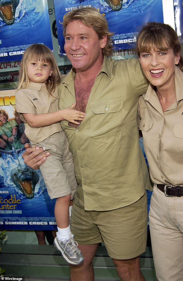 Devastating:Steve died in September 2006 at the age of 44, after being pierced in the chest by a stingray barb while filming a wildlife documentary in Queensland