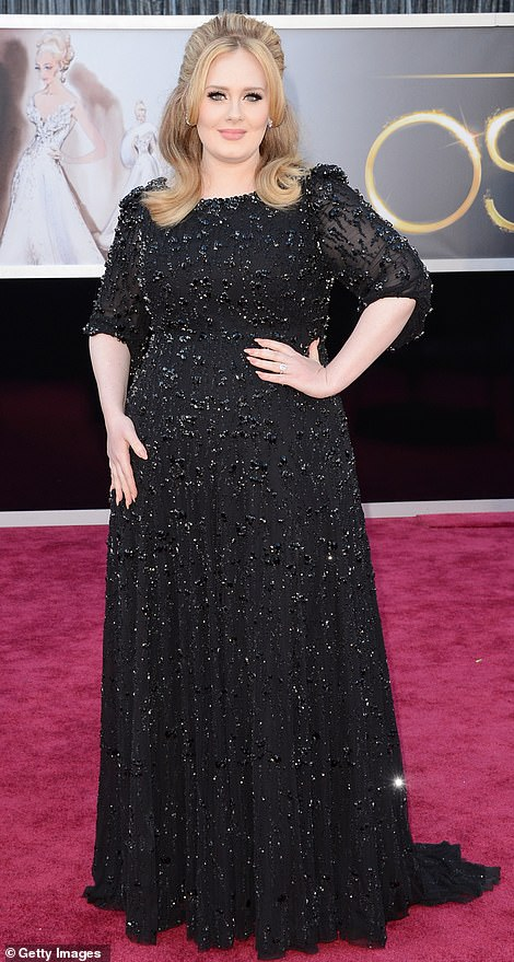 Back when: Adele pictured at the Academy Awards in 2013