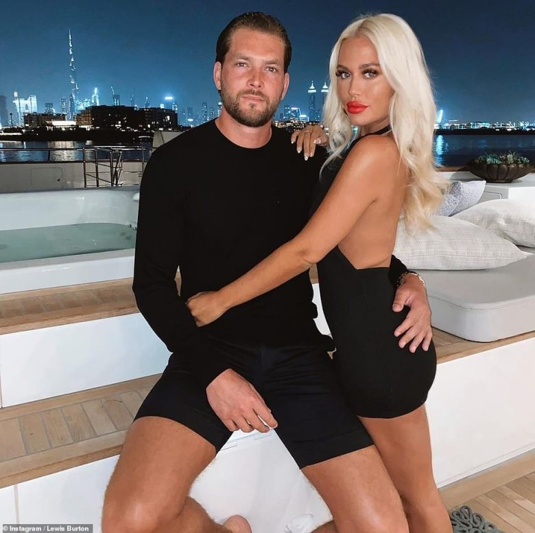 Hot couple:MailOnline revealed Lewis' new relationship with Lottie back in July, five months after his girlfriend Caroline Flack's passing