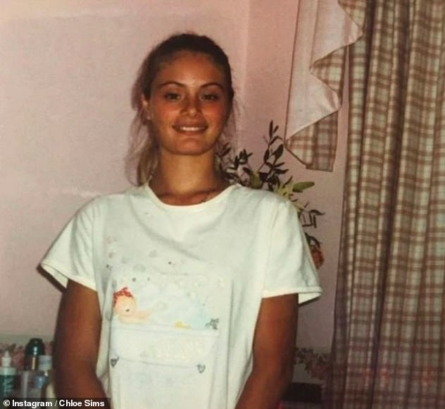 'I find it rude': She previously shared images of herself as a teen (pictured) and said she's been receiving negativity after she insisted she's never had surgery on her face