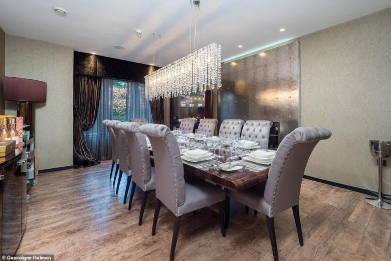 Neville and wife Julie completed a refurbishment last year to bring the swish six-bedroom family home up to date (dining room pictured)