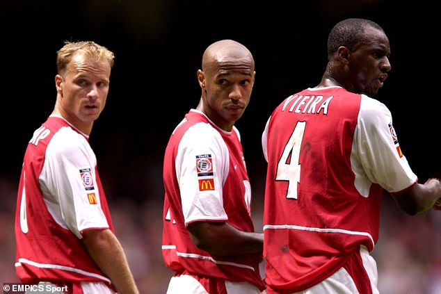 Ek has hired Dennis Bergkamp, Thierry Henry and Patrick Vieira (left to right) to help his bid