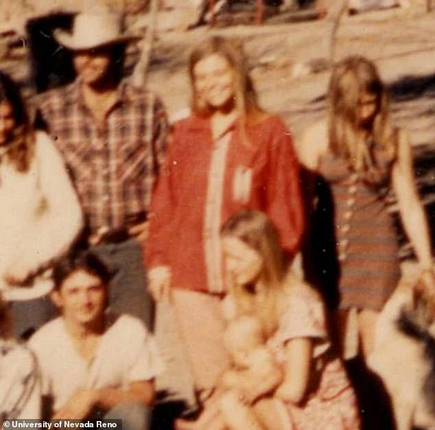 Memories: Juanita Wildebush (pictured in red) spoke to The Daily Beast about the time she spent with Charles Manson and his followers as a member of his 'Family' in the late 1960s