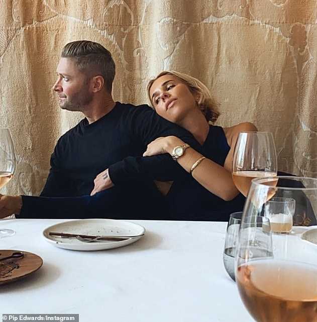 Over: Pip and Michael Clarke (left) are said to have split in February, less than a year after they went public with their whirlwind romance