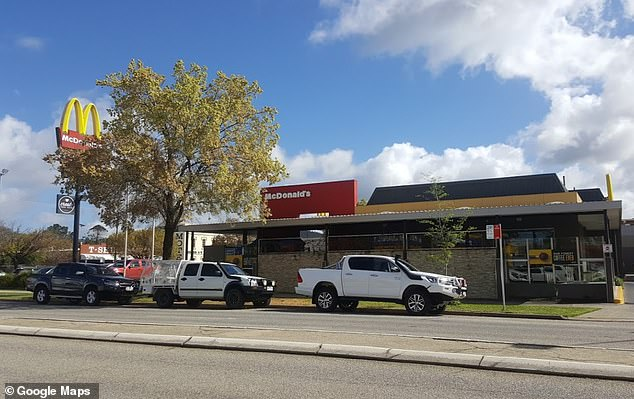A nurse pleaded guilty to all three charges after he bumped into the car ahead of him at Albury McDonald's (pictured)