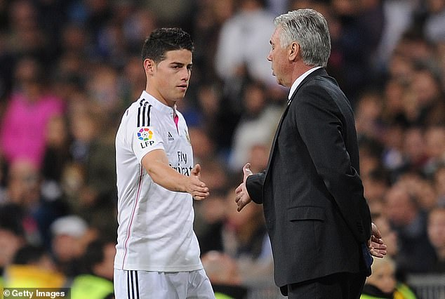 Rodriguez sees Ancelotti (right) as a father figure after working together at Real Madrid