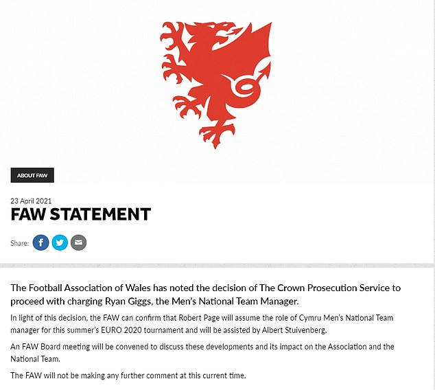 The Wales manager has missed his country's recent Nations League fixtures, following his arrest late last year