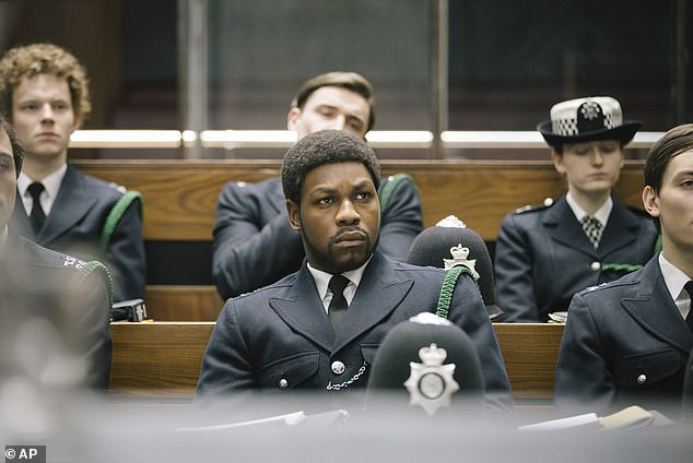 Exciting:The nominations for the 2021 British Academy Television Awards have been revealed, with Small Axe (John Boyega pictured), The Crown and I May Destroy You leading the pack.