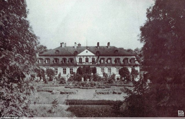 Over the years the palace (archive picture) changed hands several times and after the war the Red Army and the Polish Army were stationed there at different times